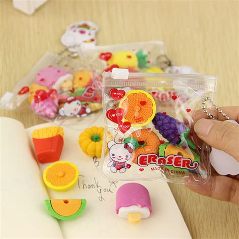 pack cuisine 1 pack fruit cuisine shape eraser novelty erasers kid