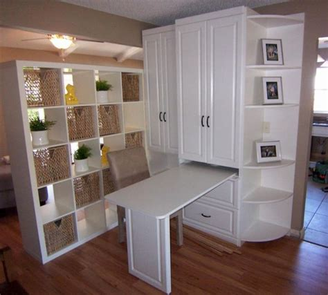 murphy bed wall unit with desk 17 space wise murphy bed units