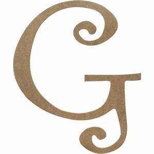 """14"""" Decorative Wooden Curly Letter: G [AB2151 ..."""