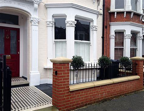 front garden wall designs victorian front garden restoration london garden design