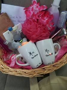 bridal shower gift basket gifts pinterest bridal With cute wedding shower gifts