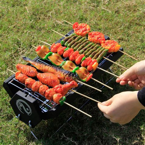 WolfWise Portable Foldable Charcoal BBQ   Cooking Gizmos