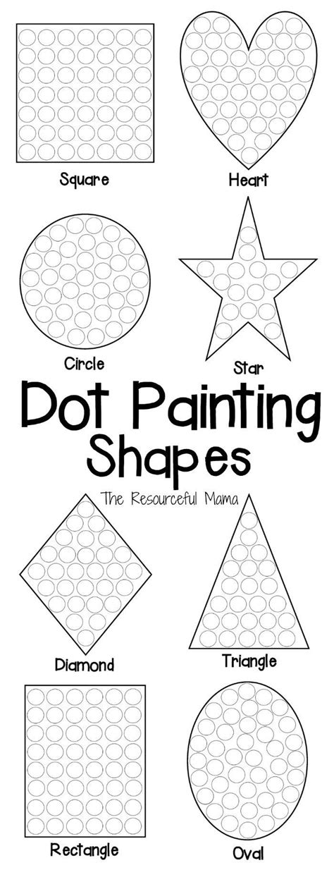 shapes dot painting free printable dot painting motor