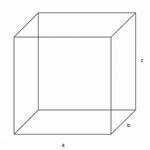 Volumen Quader Berechnen : quader wie kann man die h he c und das volumen eines quaders ausrechnen wenn nur a b und ~ Themetempest.com Abrechnung