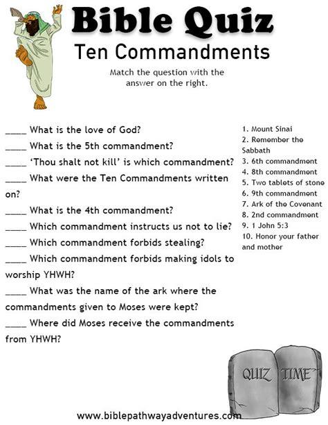 Free Bible Quiz Ten Commandments  Bible Quiz, Ten Commandments And Bible