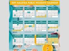 Get Free Printable Public Holidays 2019 Malaysia Calendar
