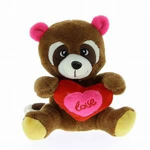 Grosse Peluche Panda : peluche panda roux avec coeur 18 cm barrado mynoors ~ Teatrodelosmanantiales.com Idées de Décoration