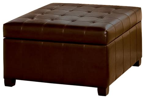 recliner with storage ottoman lyncorn leather storage ottoman coffee table