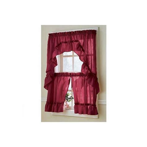 avenue ruffled kitchen curtain curtain draperycom