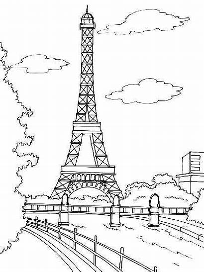 Monuments Coloring Famous Pages Printable