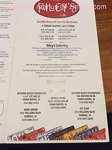 Online Menu Of Riley39s Cafe Catering Restaurant Cedar