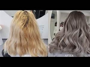 Ombré Hair Blond Foncé : blonde to balayage grey ombre hair color transformation youtube ~ Nature-et-papiers.com Idées de Décoration
