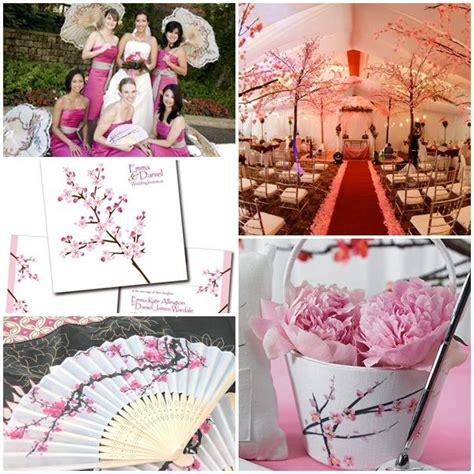 japanesse inspired wedding decorations Spring wedding
