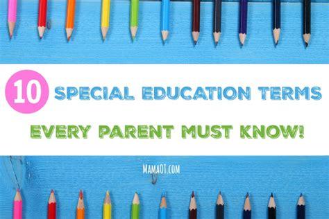 special education terms  parent