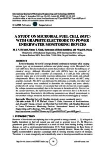 study  microbial fuel cell mfc  graphite electrode  power underwater monitoring