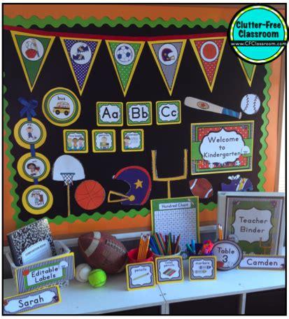clutter  classroom sports themed classrooms