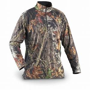 Guide Gear U00ae Camo Microfleece Shirt  New Mossy Oak Break