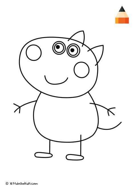 Coloring Page Peppa Pig Danny Dog Rysowanie
