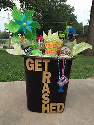 21st Birthday Gift Basket Ideas For Her