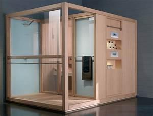 Sauna logica centre thermal avec douche bordeaux for Sauna exterieur avec douche