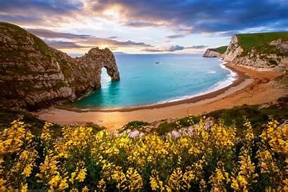 Dorset Durdle England Door Arch Sea Beach