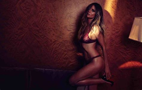 Model Heidi Klum Nude And Her New Intimates Campaign Pics