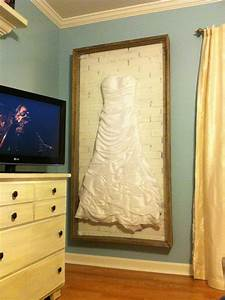 wedding dress shadow boxwife wanted to display her dress With shadow box for wedding dress