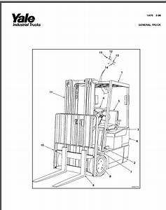 Yale Erp 030 035 040 Tfn Lift Truck Parts Manual