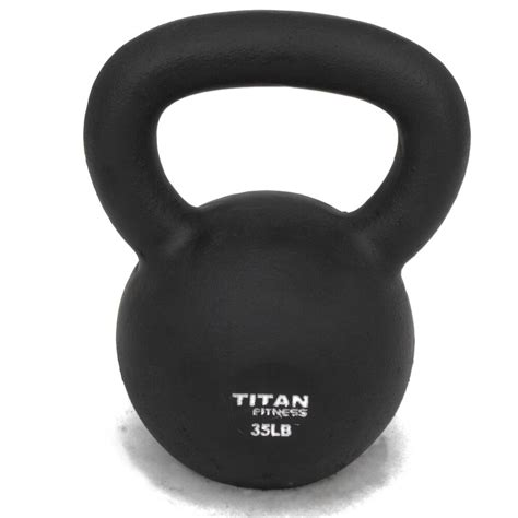 35 kettlebell weight iron lbs cast fitness titan swing solid natural walmart workout