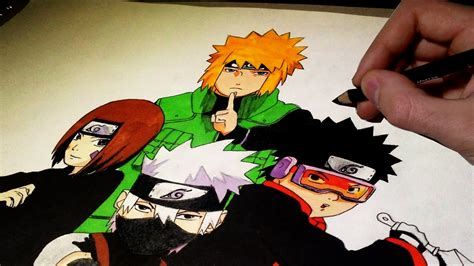 drawing  coloring naruto characters time lapse youtube