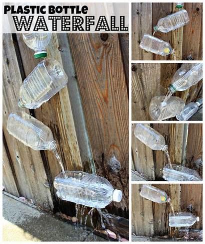 Plastic Waterfall Bottles Bottle Pop Outside Toy