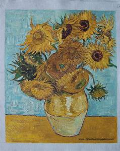 Museum quality Oil painting reproductions of Sunflowers by ...