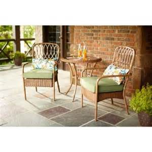 hton bay clairborne 3 piece patio bistro set with moss