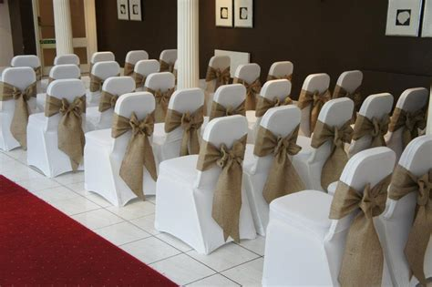 chair sashes hessian elite event hire manufacture