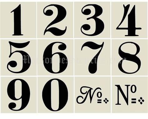 Hausnummer Schablonen Vorlagen by 1000 Images About Stencils Numbers On