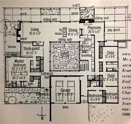 courtyard house plans inspiration retro 1959 home magazine features mid century