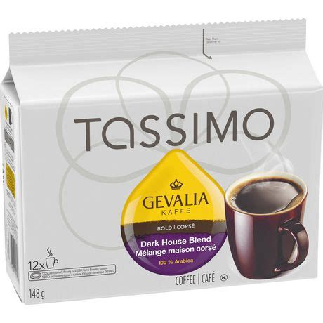 We use the perfect care for the perfect cup so you can savor the combination of rich espresso coffee and creamy froth. Tassimo Gevalia Dark Roast Coffee Single Serve T-Discs   Walmart Canada