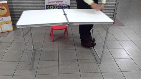 folding cing table coleman portable aluminium table fold able adjustable youtube