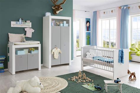 Trendteam Pia Babyzimmerset Weiß  Lichtgrau  Möbel Letz