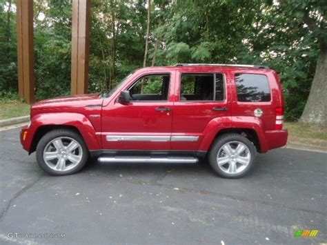 Deep Cherry Red Crystal Pearl 2012 Jeep Liberty Jet 4x4