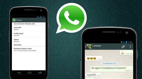 whatsapp pour android comment masquer votre derni 232 re visite