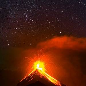 The Fuego volcano in Guatemala is currently erupting and ...