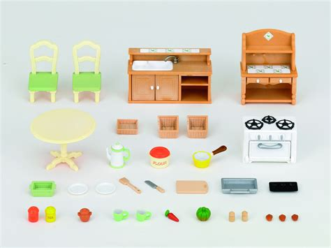 accessoire cuisine jouet sylvanian families 2951 poupées et accessoires set