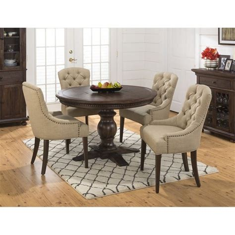 jofran geneva hills  piece dining set  button tufted