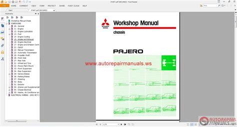 mitsubishi pajero   eng auto repair manual forum heavy equipment forums