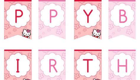 kitty happy birthday banner  printabletreats