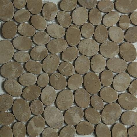 sliced pebble mosaic tile brown sliced pebble mosaic