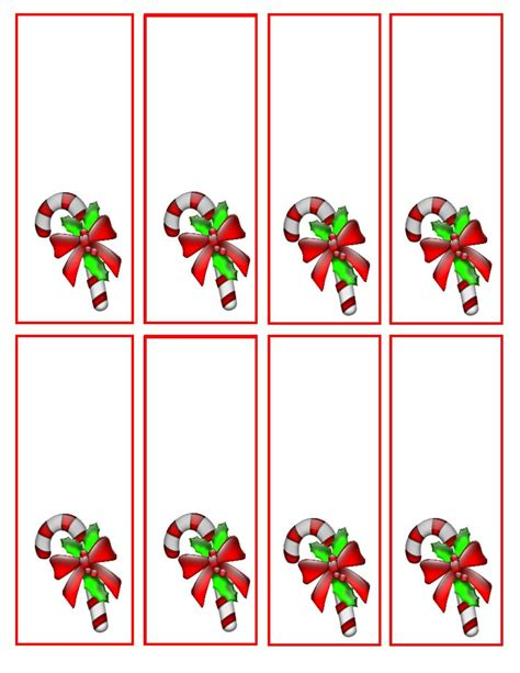 christmas template mark 7 best images of candy cane bookmark printable candy