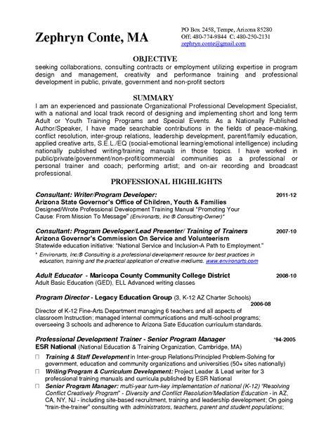 sample resume zumba instructor resume examples writing
