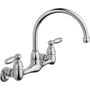 delta wall mount kitchen faucet peerless choice 2 handle wall mount kitchen faucet in chrome p299305lf the home depot